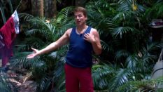 John Barrowman with the washing on I'm A Celebrity
