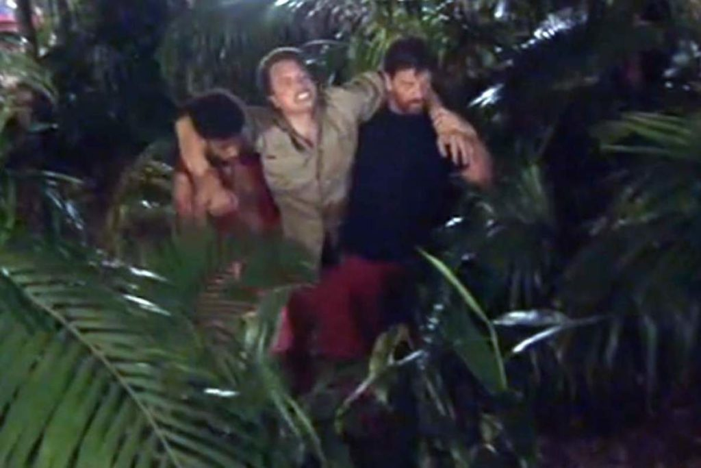 """John Barrowman has returned to the """"I'm A Celebrity"""" jungle after spraining his ankle in a fall"""
