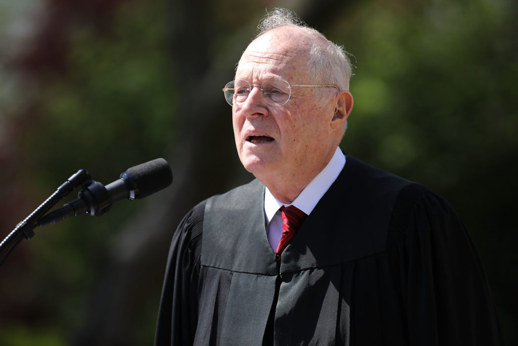 US Supreme Court Justice Anthony Kennedy speaks at the White House