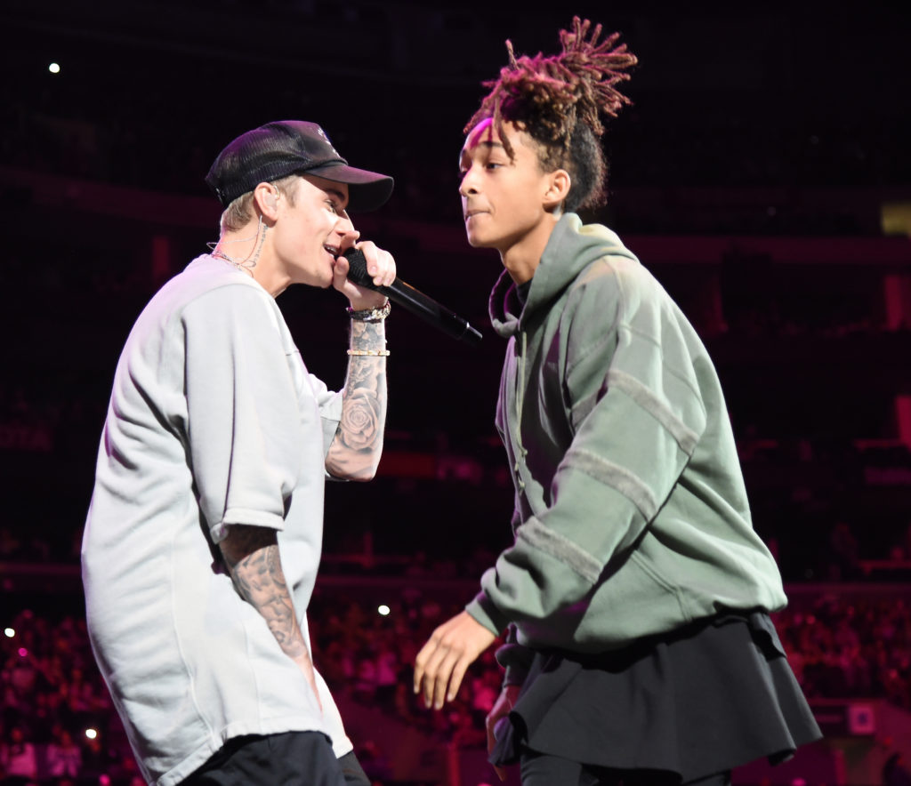 Justin Bieber (left), who has said Jaden Smith is his boyfriend
