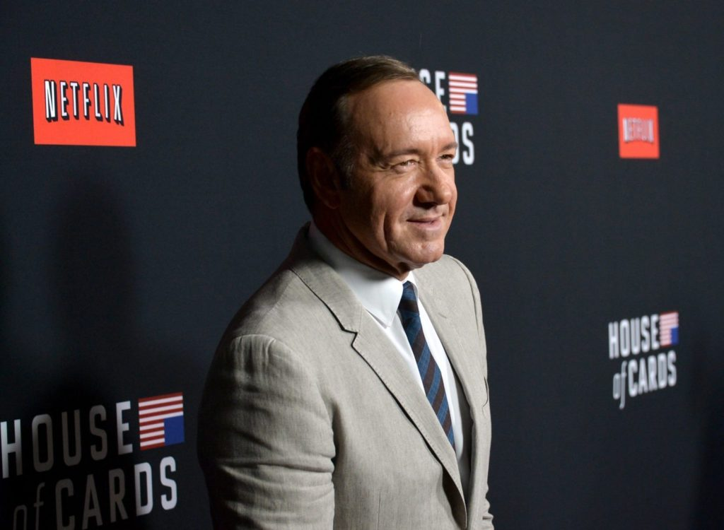 """LOS ANGELES, CA - FEBRUARY 13: Producer/actor Kevin Spacey arrives at the special screening of Netflix's """"House of Cards"""" Season 2 at the Directors Guild Of America on February 13, 2014 in Los Angeles, California. (Photo by Kevin Winter/Getty Images)"""