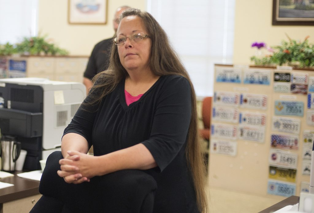 The two Supreme Court justices claimed that Kim Davis was a 'victim' of same-sex marriage