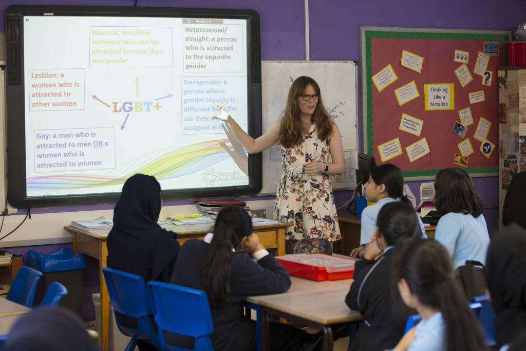 The charity Diversity Role Models runs a workshop on LGBT issues in schools in London.