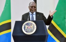 Tanzanian President John Pombe Magufuli speaks during a joint press conference with Kenyan President on October 31, 2016 at the State House in Nairobi. President Magufuli is in the country for a two-day state visit. / AFP / SIMON MAINA (Photo credit should read SIMON MAINA/AFP/Getty Images)