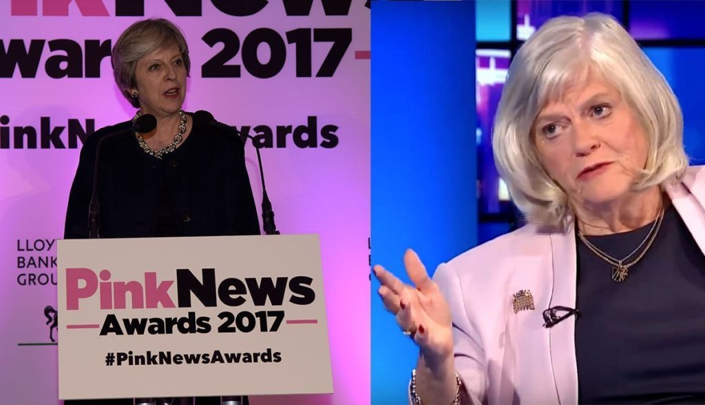 Theresa May and Anne Widdecombe (Chris Jepson/ITV)