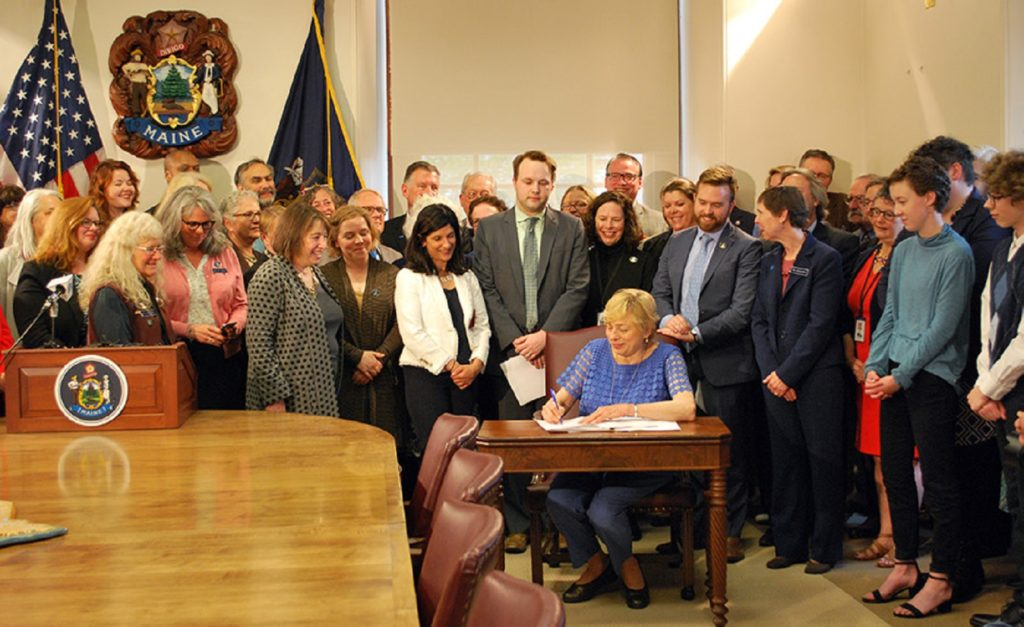 The Governor of Maine Janet Mills signed the bill into law