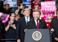 Republican Congressional candidate for North Carolina's 9th district Mark Harris with President Donald Trump