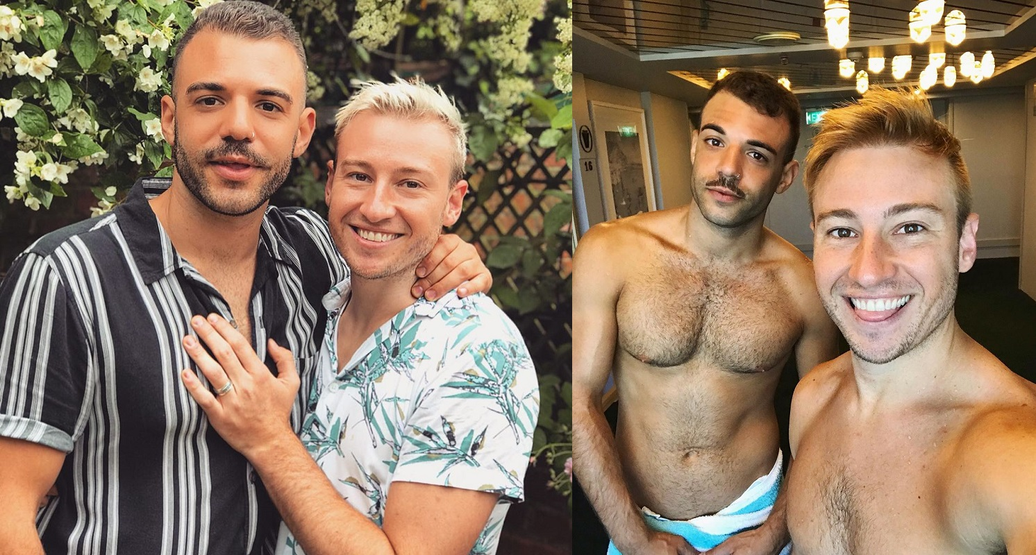 Matthew Mitcham and fiancé Luke Rutherford