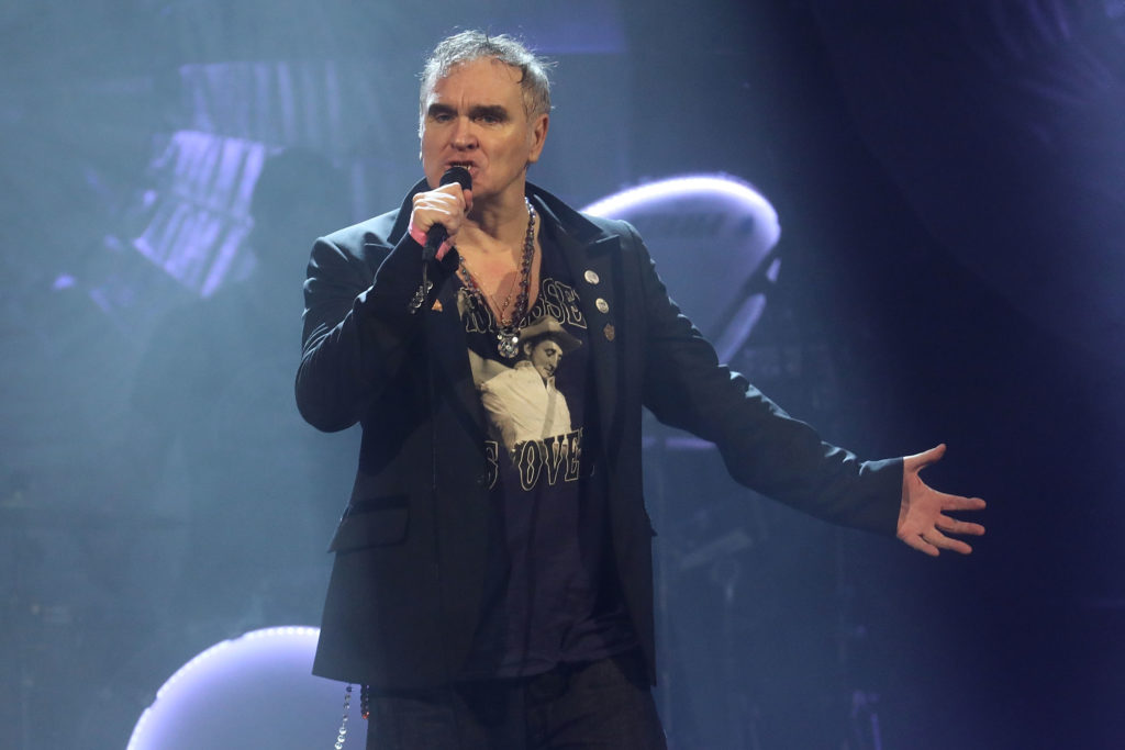 Morrissey performs during his Broadway debut at Lunt-Fontanne Theatre on May 2, 2019 in New York City.