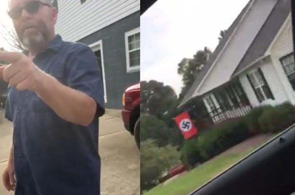 Racist Trump supporter in NC