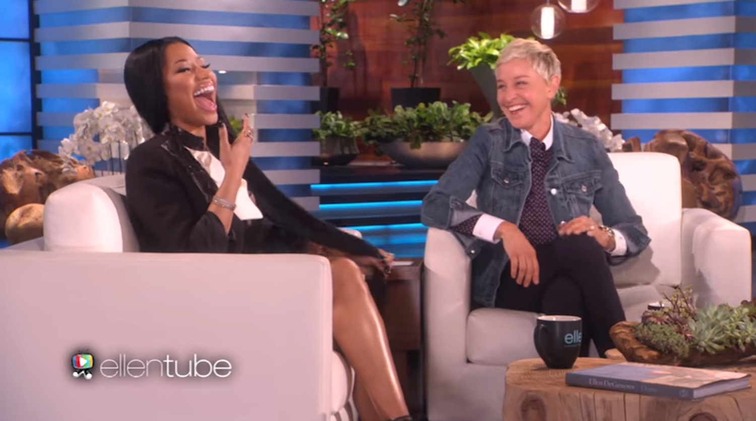 Watch Ellen Raise The Roof With Her Reply When Nicki Minaj Says I Don T Like Men
