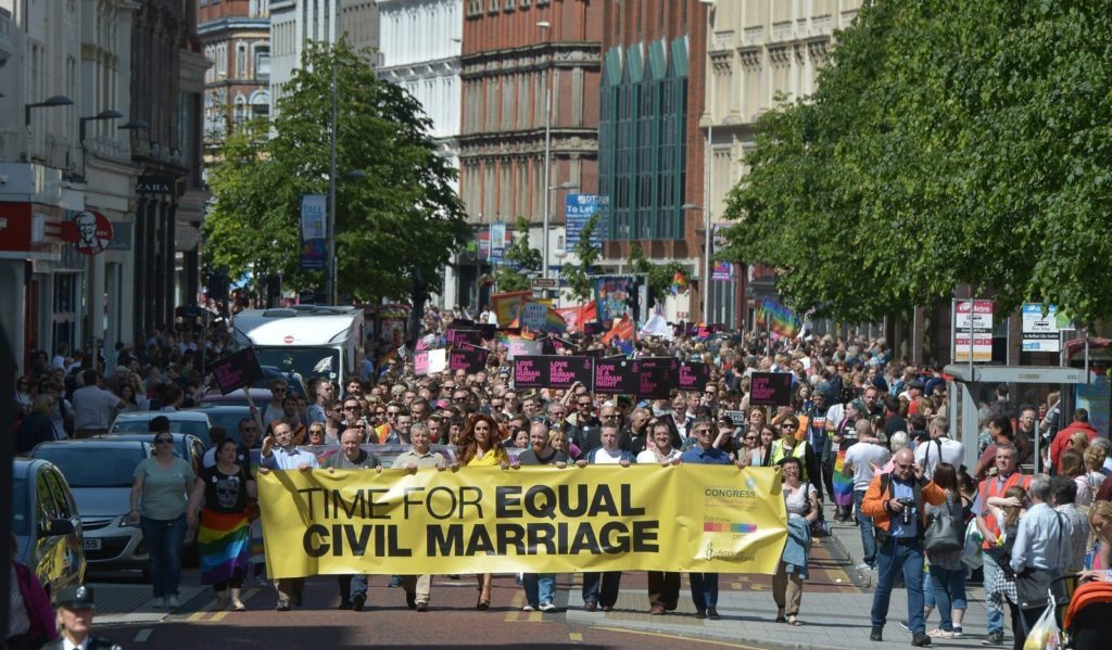 northern ireland rejects same sex marriage in Oakland