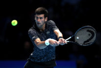 Novak Djokovic of Serbia during the ATP Finals