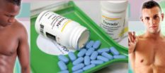 A Truvada bottle and PrEp pills