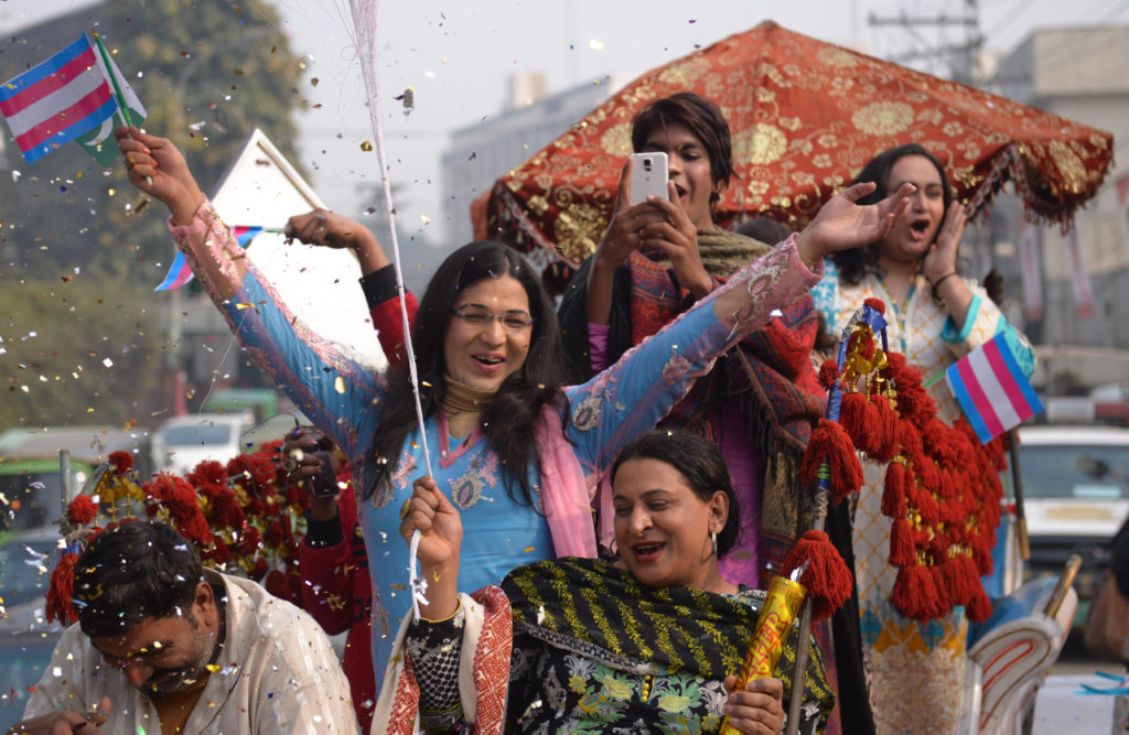 People take part in Pakistan's first Transgender Pride parade
