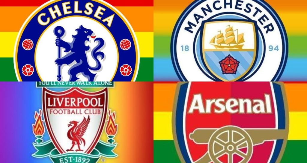 Premier League clubs show support for Stonewall's Rainbow Laces campaign