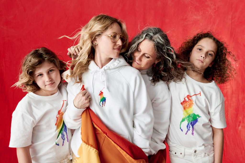 Ralph Lauren PRIDE rainbow pony polo