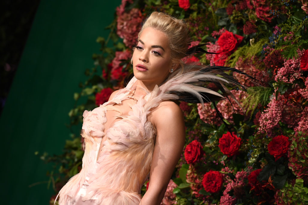 "Rita Ora, who recently said she hopes her song ""Girls"" will help girls to come out as gay"