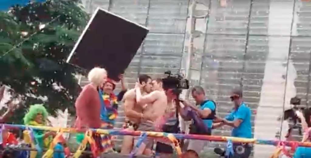 Watch: Sense8 male cast can't keep their hands off each other at Sao Paulo Pride