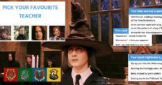 Harry Potter sorting hat Hogwarts house quiz