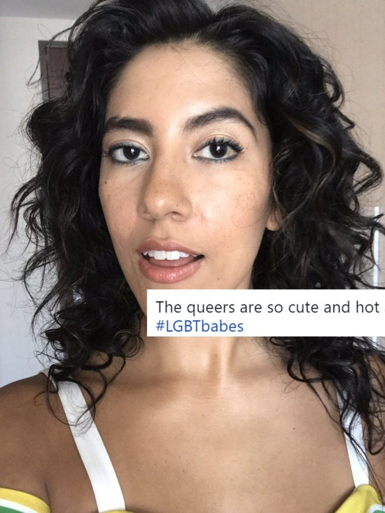 Stephanie Beatriz #lgbtbabes with tweet a