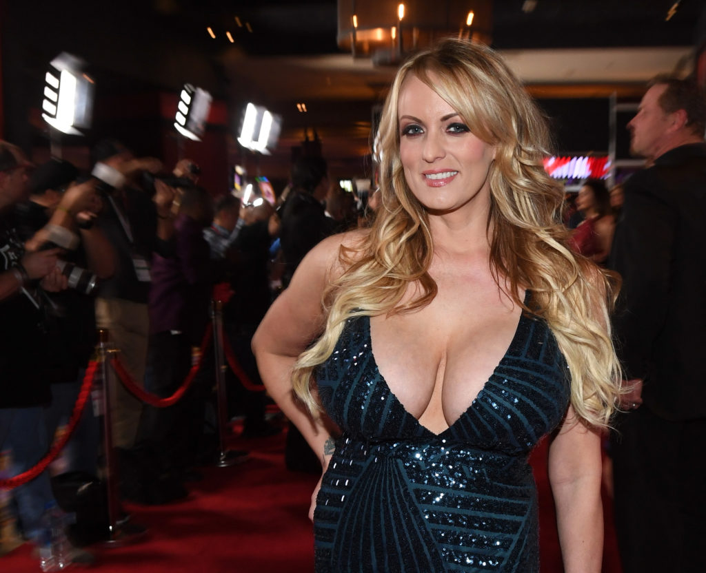 Adult film star Stormy Daniels at the 2018 Adult Video News Awards