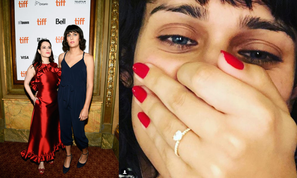 Teddy Geiger and Emily Hampshire engaged