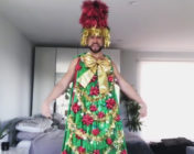 Dancer Mark Kanemura dressed as a tree.
