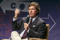 Tucker Carlson, who has been dropped by advertisers for anti-LGBT comments