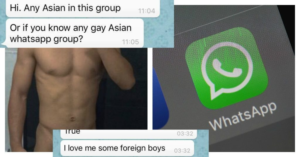 There are secret WhatsApp groups where hundreds of guys swap