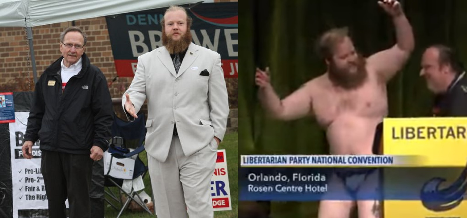 Watch: Libertarian candidate strips naked on live TV
