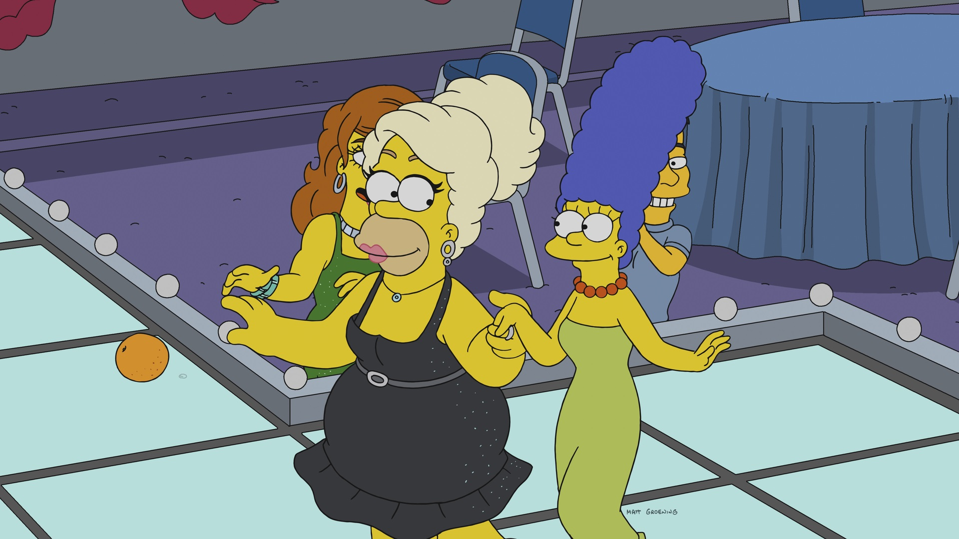 Homer Simpson dresses as a drag queen in a new episode of The Simpsons