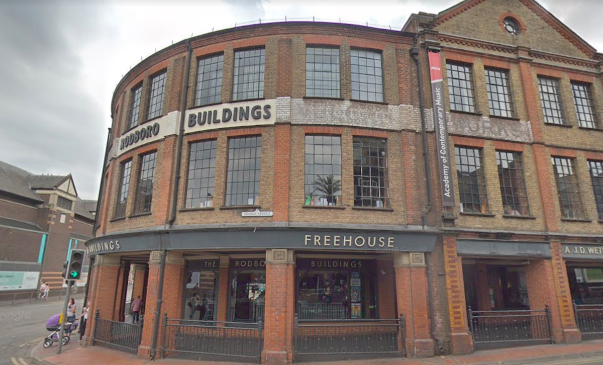 A Wetherspoons in Guildford, where a gay couple was reportedly asked to leave for kissing