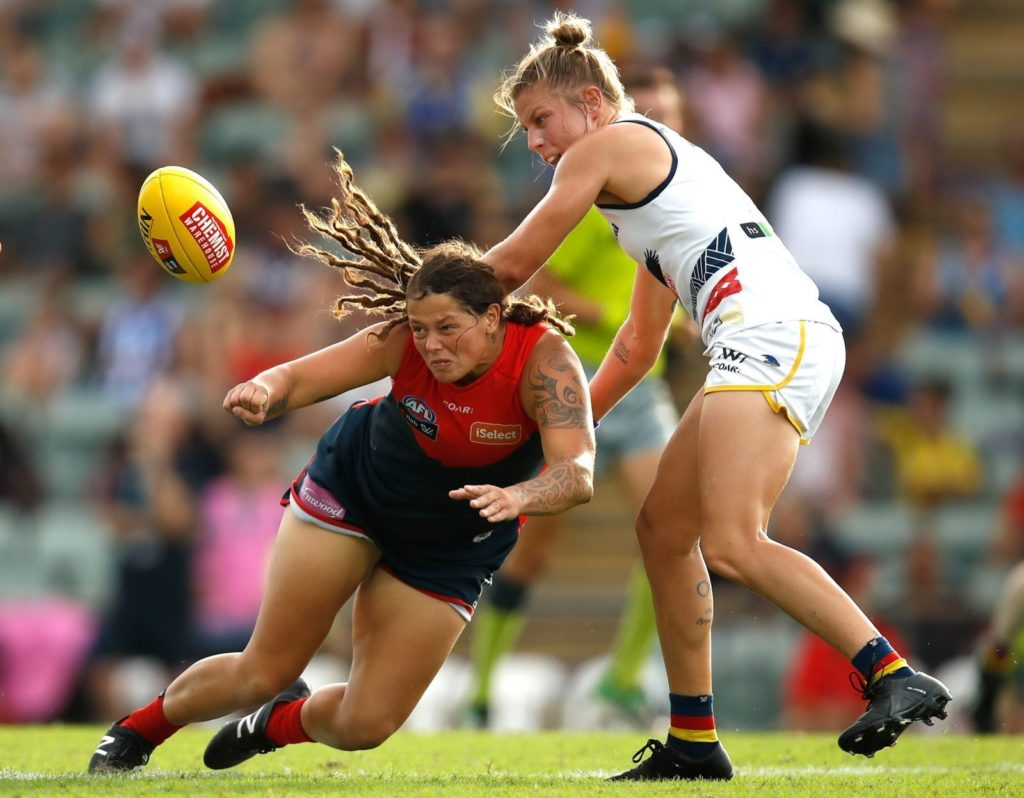 An Australian Women's Football League match (Photo by Michael Willson/AFL Media/Getty Images)