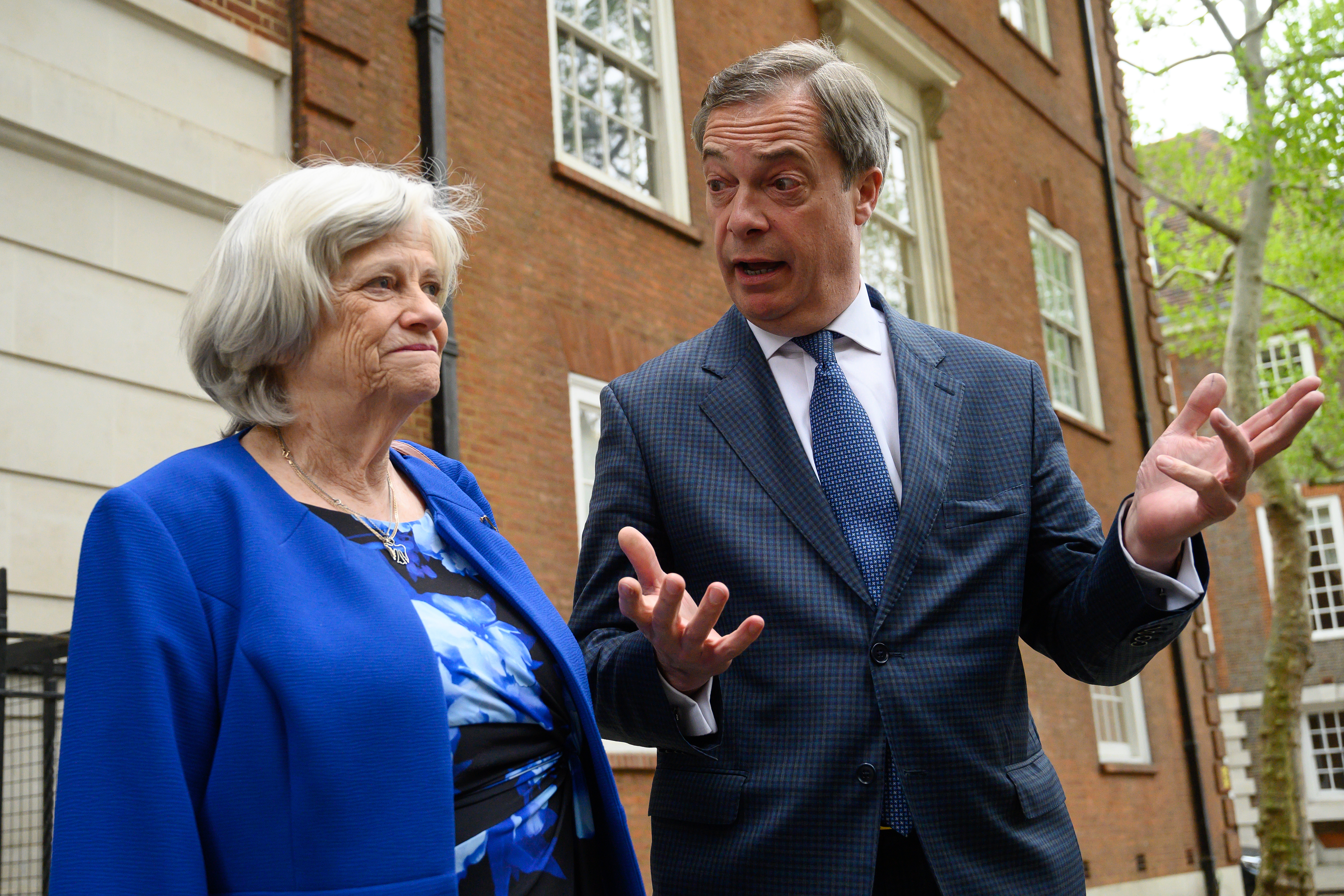 Ann Widdecombe and Nigel Farage of the Brexit Party