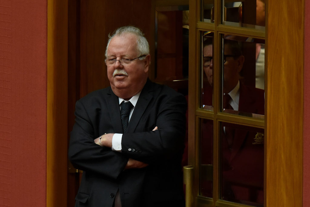 Barry O'Sullivan, who is anti-abortion, stands in Australia's Parliament
