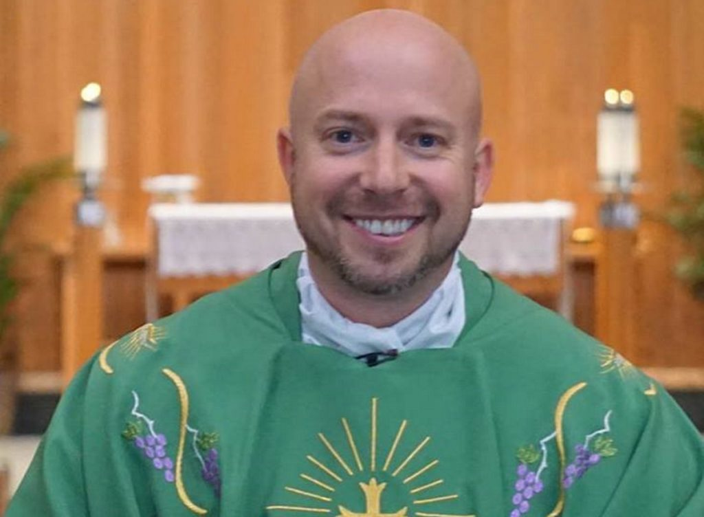 A photo of Rev Jerome Lavigne, the priest who said the Pride flag was created by Satan