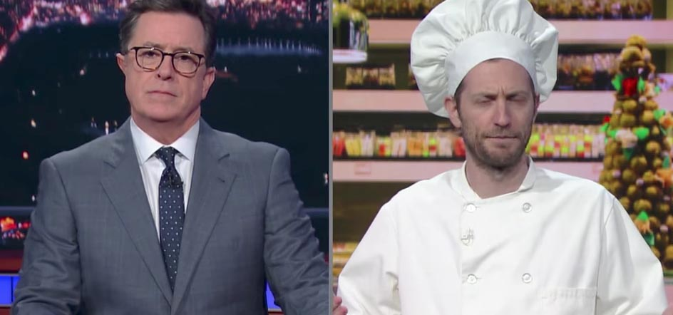 """Colbert goes head to head with a """"homophobic baker"""""""