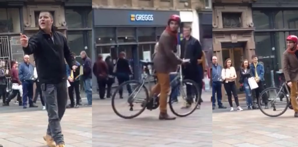 Gay bicycle wheelie picture