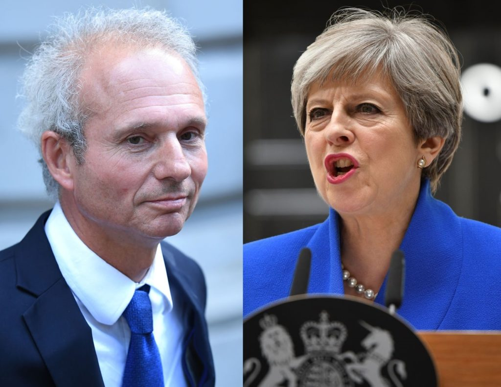 david lidington and theresa may
