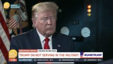 Donald Trump struggled to defend the policy in an interview with Good Morning Britain