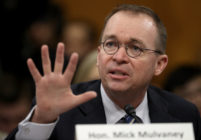 Donald Trump's new chief of staff Mick Mulvaney testifies before the Senate Budget Committee in February 2018 as office of management and budget director