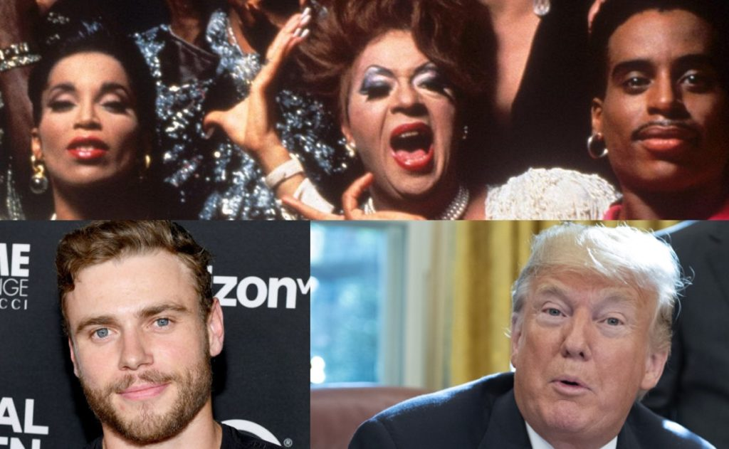 President Donald Trump, Gus Kenworthy and some queens from iconic film Paris is Burning
