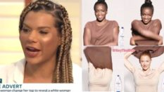 "Munroe Bergdorf and the ""racist"" Dove advert (ITV/Twitter)"