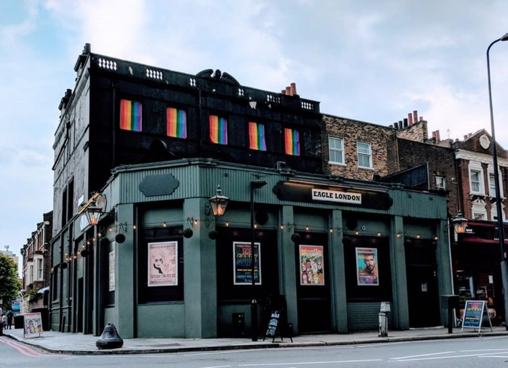 The Eagle, an LGBT+ bar in London, England. (eaglelondon/twitter)