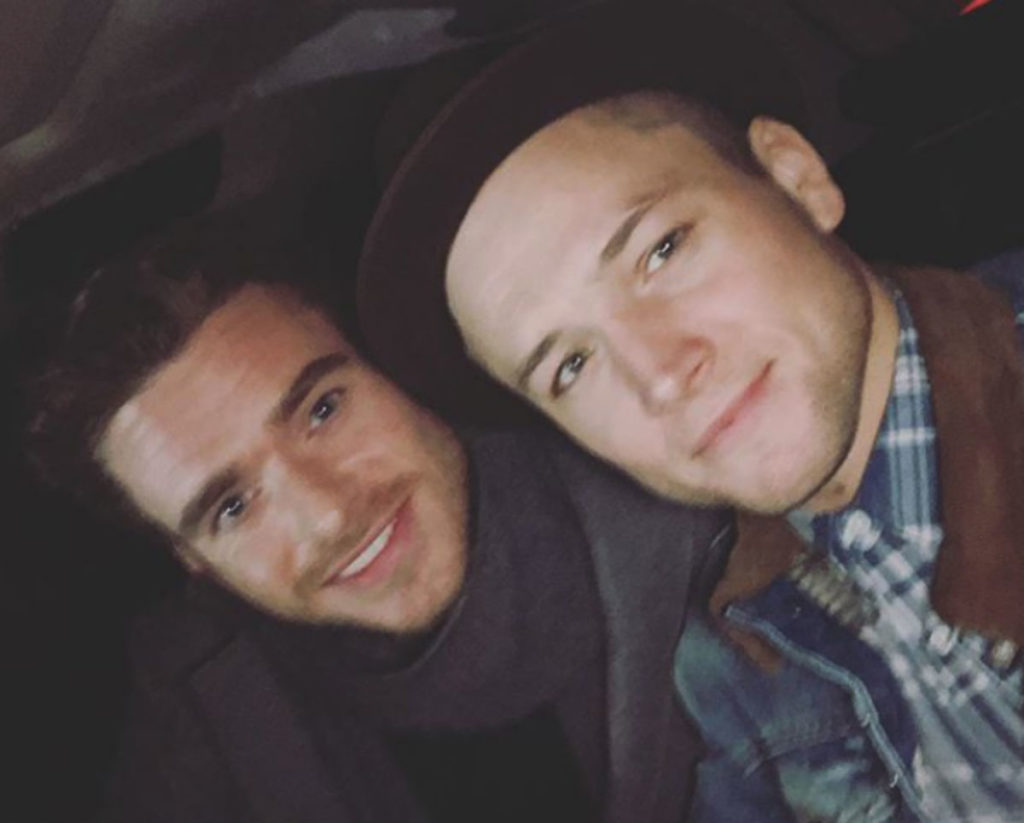 Taron Egerton hangs out with his Rocketman sex scene co-star Richard Madden