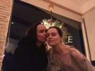 Ellen Page kisses her wife Emma Portner