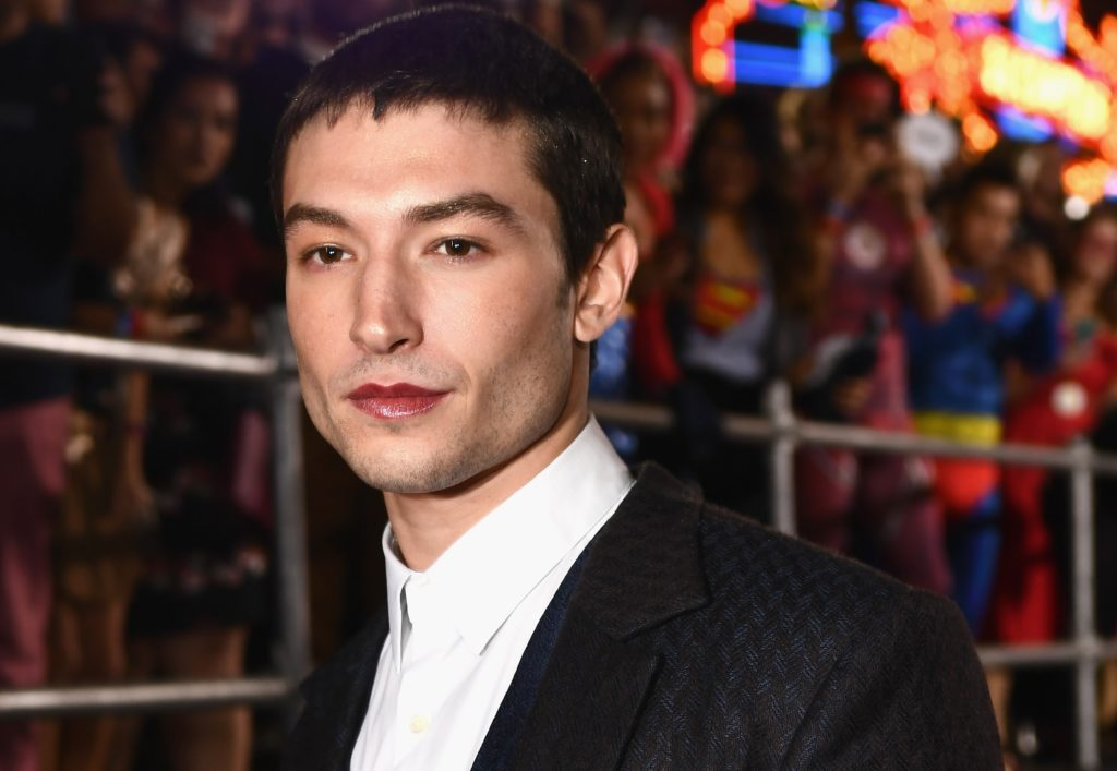 Fantastic Beasts star Ezra Miller attends the premiere of Warner Bros. Pictures' 'Justice League' at Dolby Theatre on November 13, 2017