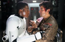 Finn and Poe in Star Wars: The Force Awakens