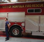 Picture of the fire station in the city of Norfolk, which has beens ued by a gay firefighter over discrimination.
